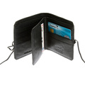 RMC Martin Ksohoh Wallet MKWS black Italian leather bill fold and credit card wallet with flap REDM5720