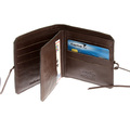 RMC Martin Ksohoh MKWS brown Italian leather bill fold and credit card wallet with flap REDM5721