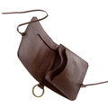 RMC Martin Ksohoh MKWS brown Italian leather credit business card and ID pouch REDM5727
