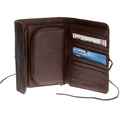 RMC Martin Ksohoh Wallet MKWS large brown horse hair bill fold, credit card & coin pouch wallet REDM5760