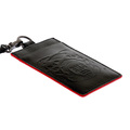 RMC Martin Ksohoh black leather ID and credit/business card holder 256367 BGH0N 1000 REDM5517