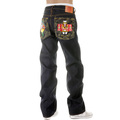 RMC Martin Ksohoh Embroidered Japanese Dolls Dark Indigo Selvedge Raw Denim Jeans with Exclusive Design REDM2892