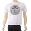 RMC Martin Ksohoh Mens Crew Neck Cotton Regular Fit White T-shirt with Cyber Monkey Print REDM5030