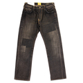 Yoropiko jeans Yoropiko patch black denim jean YORO5432