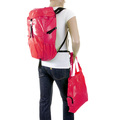 RMC MKWS Unisex Pink Lightweight Nylon Backpack with Top Flap Clip Closure REDM2270