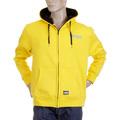 RMC Martin Ksohoh MKWS Mens Yellow Laurel Leaf Printed Hooded Zip Up Regular Fit Sweatshirt REDM2321