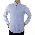RMC Martin Ksohoh MKWS Mens Blue Striped Patch Sleeve Button Down Collar Regular Fit Shirt REDM2110