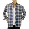 RMC Martin Ksohoh MKWS Mens Blue Check Button Down Collar Long Sleeve Regular Fit Shirt REDM2297