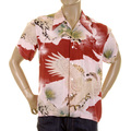 RMC Martin Ksohoh pink Eagle in Leaf printed shirt REDM0916