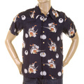 RMC Martin Ksohoh shirt navy Human head bird body printed shirt REDM0908