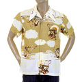 RMC Martin Ksohoh beige God of Wind and Thunder printed shirt REDM0915