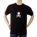 RMC Martin Ksohoh black with flocked white skull T-shirt REDM2116
