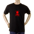RMC Martin Ksohoh black with flocked red skull T-shirt REDM2120