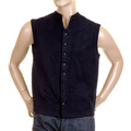 RMC MKWS Navy Blue Plush Fleece Button Through Sleeveless Regular Fit Jacket Gillett for Men REDM2350