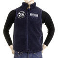 RMC MKWS Navy Blue Plush Fleece Sleeveless Regular Fit Papamamason Vest Gillet for Men REDM5827
