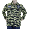 RMC Martin Ksohoh Mens RQZ1085 Green Tiger Camo Regular Fit Zip Up Field Jacket REDM2358A