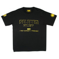 RMC Jeans x Yoropiko Limited Edition Black Crew Neck Regular Fit Yellow Seleven T Shirt YORO3775