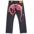 Yoropiko Pink Hungry Dragon denim jeans YORO3692