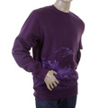 RMC Jeans Purple Crew Neck Large Fitting RWC141161 Sweatshirt with Lilac Toyo Story Mountain Print REDM0946