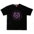 RMC Martin Ksohoh Purple Logo Printed Black Crew Neck Short Sleeve Regular Fit T Shirt REDM0095