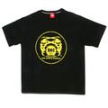 RMC Martin Ksohoh Yellow Logo Printed Black Crew Neck Short Sleeve Regular Fit T Shirt REDM0110