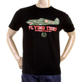 RMC Martin Ksohoh Regular Fit RQT1076 Short Sleeve Crew Neck Tiger Plane Printed T Shirt in Black REDM0968