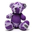 RMC Martin Ksohoh MKWS Limited Edition purple bandana teddy bear RMC1235