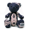RMC Martin Ksohoh MKWS Limited Edition navy blue bandana teddy bear RMC1239