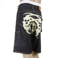 RMC Martin Ksohoh Cargo Short off white Painted Logo denim shorts REDM3734
