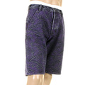 RMC Martin Ksohoh shorts purple embroidered tsunami wave  denim shorts REDM3740