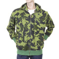 RMC Martin Ksohoh army green camo zipped hooded sweatshirt REDM1018