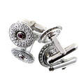 RMC Martin Ksohoh diamond and ruby custom made cufflinks in gift box RMCCUFF2402