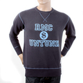 RMC Martin Ksohoh Regular Fitting RWH141263 Washed Navy Crewneck Sweatshirt with Dollar UNTUNK Print REDM1034