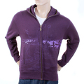 RMC Jeans Regular Fitting RJK141162 Zipped Front Hooded Purple Sweatshirt with Toyo Story Bridge Print REDM1068