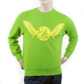 RMC Martin Ksohoh lime green Freedom Crane crew neck sweatshirt REDM1032