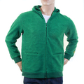 RMC Large Fitting Emerald Green R6JKTSUNAMIE Zipped Hooded Sweatshirt with Tsunami Wave Embroidery REDM1051