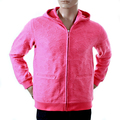 RMC Martin Ksohoh R6JKTSUNAMIE Mens Large Fit Zipped Pink Embroidered Tsunami Wave Hooded Sweatshirt REDM1047