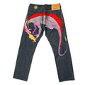 Yoropiko Jeans Hungry Dragon multy colour denim jean YORO9094