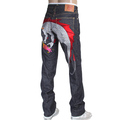 RMC Jeans mens silver embroidered Hungry Dragon Japanese selvedge denim jeans RMC3743