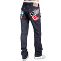 RMC Jeans mens embroidered Carp Japanese selvedge denim jeans RMC3746