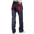 RMC Martin Ksohoh Embroidered Red Lucky Horse Model 1001 Japanese Selvedge Denim Jeans for Men RMC3748