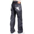 RMC Jeans Japanese 1001 Mens Embroidered Silver Lucky Horse Japanese Raw Indigo Selvedge Denim Jeans RMC3751