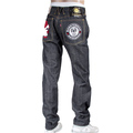 RMC Jeans X Yoropiko Mens Embroidered Indigo Japanese Cotton Raw Selvedge Denim Jeans REDM4128