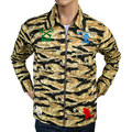 RMC MKWS Camo Sand Zipped RQZ13097 Regular Fit Logo Printed Cotton Jacket REDM4134