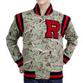 RMC Martin Ksohoh Green Leaf Camo RQJ13163 Vintage Regular Fit Baseball Jacket REDM4421