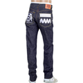 RMC FM Union Mens 4A FM Union 1001 Model White Embroidered Selvedge Denim Jeans RMC1925