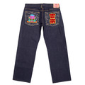 RMC Jeans Authentic Exclusive Monk Embroidered Vintage Dark Indigo Raw Selvedge Jeans REDM9066