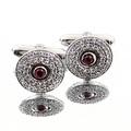 Yoropiko by Martin Yat Ming diamond and ruby custom made cufflinks in gift box YOROCUFF2402a